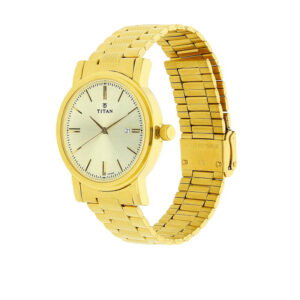 Titan Champagne Dial Stainless Steel Strap Watch 1712YM03