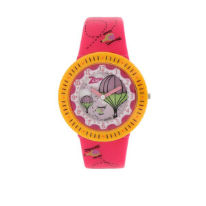 Zoop White Dial Analog Watch for Girls 26007PP03