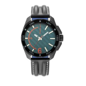 Fastrack Green Dial Leather Watch 3084NL03