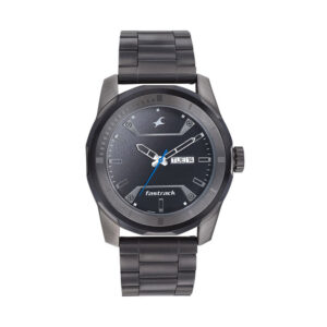 Fastrack Black Dial Analog with Day and Date 3166KM02