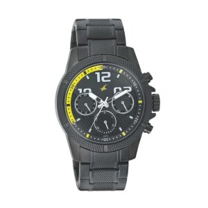 Fastrack Loopholes Black Dial Multifunction Watch for Men 3169NM01