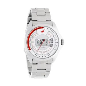 Fastrack Loopholes White Dial Analog Watch for Men 38049SM02