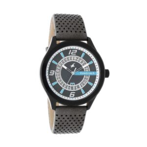 Fastrack Loopholes Black Dial Analog Watch for Men 38050NL01
