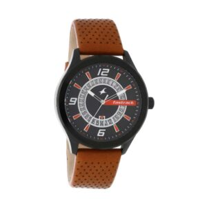Fastrack Loopholes Black Dial Analog Watch for Men 38050NL02