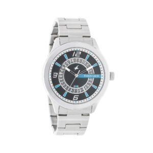 Fastrack Loopholes Black Dial Analog Watch for Men 38050SM02