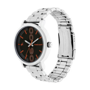 Fastrack Bold Black Dial Analog Watch for Men 38052SM06