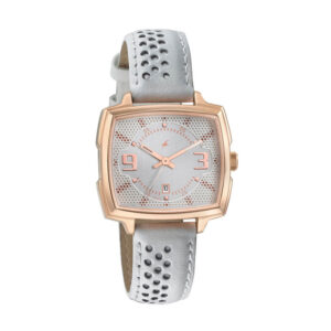 Fastrack Loopholes Gold Dial Analog Watch for Women 6167WL01