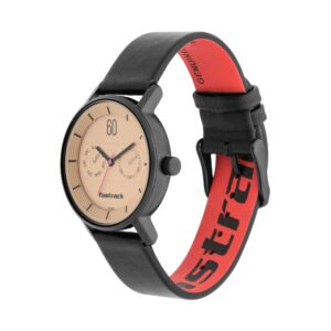 Fastrack Beige Dial Analog with Day & Date Watch for Girls 6198NL01
