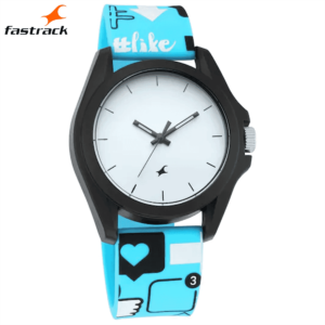 Fastrack Hashtag White Dial Analog Unisex Watches 68011PP03