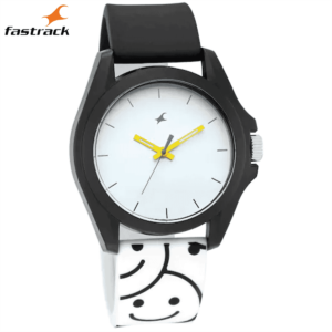 Fastrack Hashtag White Dial Analog Unisex Watches 68011PP05