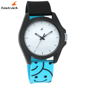 Fastrack Hashtag White Dial Analog Unisex Watches 68011PP06