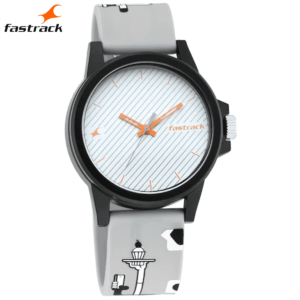 Fastrack Hashtag White Dial Analog Unisex Watches 68012PP06