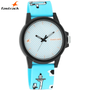 Fastrack Hashtag White Dial Analog Unisex Watches 68012PP08