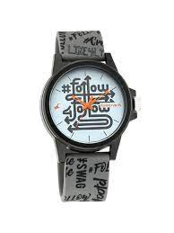 Fastrack Hashtag White Dial Analog Unisex Watches 68012PP09