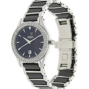Xylys Black Dial Analog Watch with Date Function for Women 9766DM02