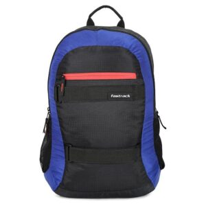 Fastrack Textured Black Polyester Laptop Backpack for Guys A0641NBK01