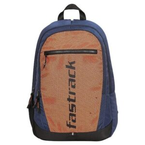 Fastrack Textured Orange Polyester Backpack for Guys A0698NOR01