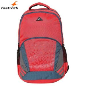 Fastrack Plain Red Polyester Laptop Backpack for Guys A0705NRD01