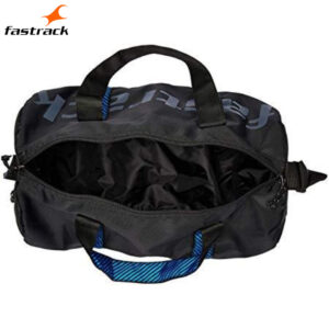 Fastrack Black Polyester Duffle 23 L for Guys A0722NBK01
