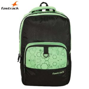 Fastrack Textured Green Polyester Backpack for Guys A0803NGR01