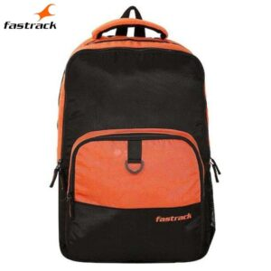 Fastrack Textured Orange Polyester Backpack for Guys A0803NOR01