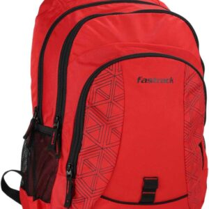 Fastrack Red Polyester Backpack for Guys A0806NRD01