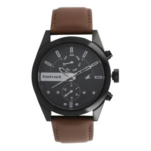 Fastrack Black Dial Multifunction Watch for Guys 3165NL01