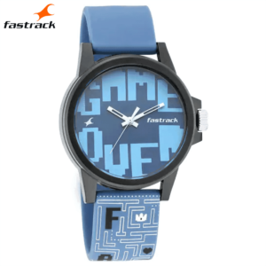 Arcade from Fastrack – Blue Dial Analog Unisex Watch 68012PP02