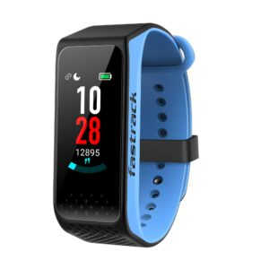 REFLEX 3.0 DUAL TONED SMART BAND IN MIDNIGHT BLACK & BLUE ACCENT SWD90067PP01